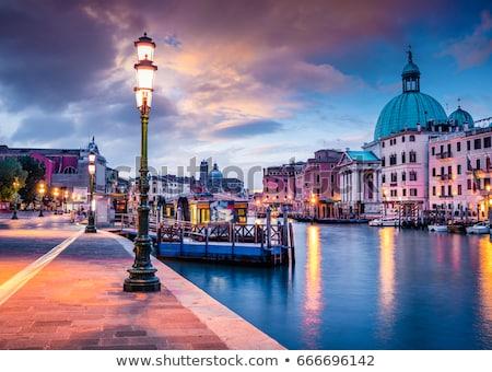 Veneza noite Itália água horizonte cultura Foto stock © MichaelVorobiev