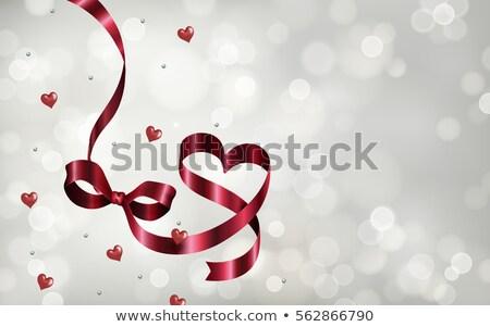 Serca kolorowy bokeh światła ilustracja Zdjęcia stock © Artida