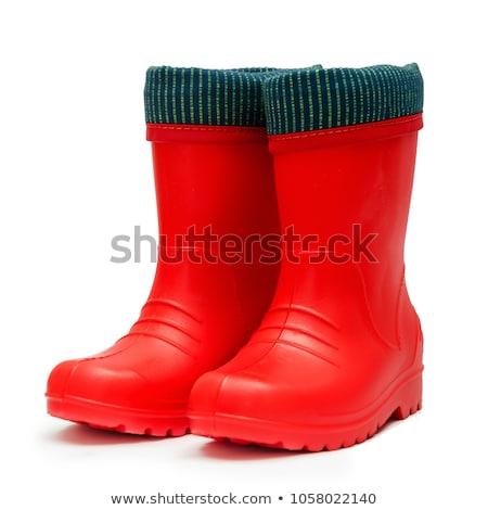 Rubber Boots on White Background Stock photo © ozaiachin
