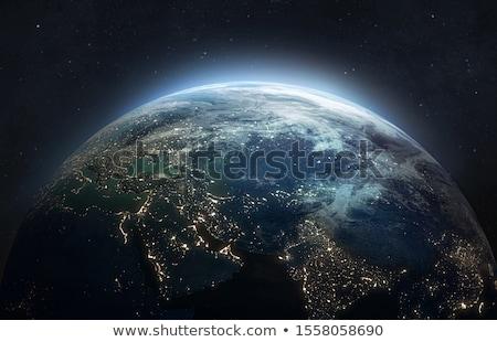 Földgömb Föld világtérkép ikon vektor kép Stock fotó © Dxinerz