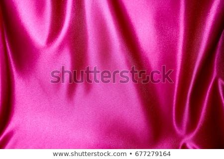 Roze satijn chaotisch textuur achtergrond weefsel Stockfoto © eddows_arunothai