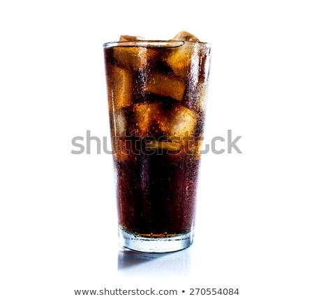 Cola · стекла · льда · синий · продовольствие - Сток-фото © ozaiachin