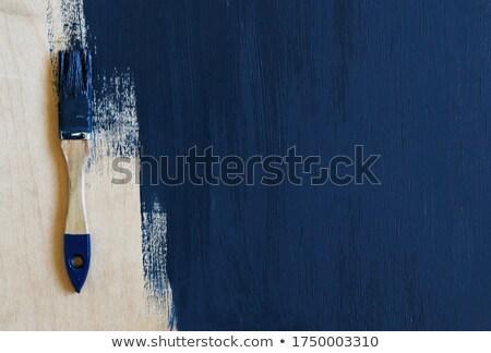 penseel · Blauw · hout · top · textuur - stockfoto © dariazu
