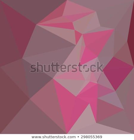 Roze abstract laag veelhoek stijl illustratie Stockfoto © patrimonio