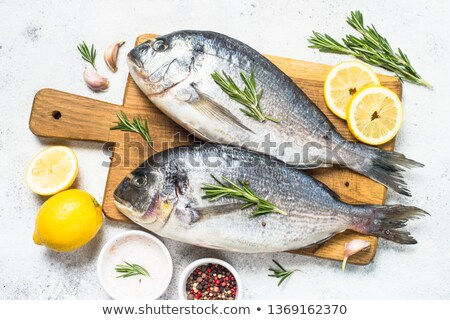 pişirme · balık · otlar · baharatlar - stok fotoğraf © zhekos