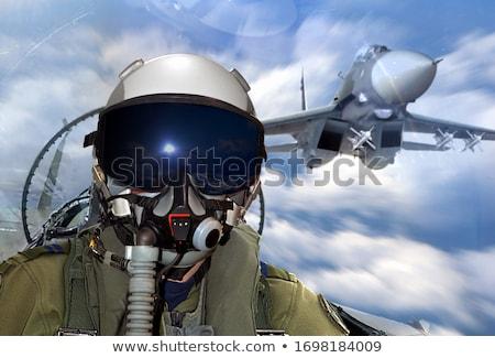 soldaten · man · woestijn · soldaat · target · leger - stockfoto © OleksandrO
