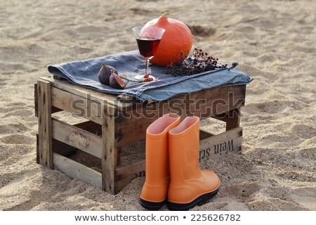 Autumn scenery on the wine box on the beach  Stock photo © laciatek