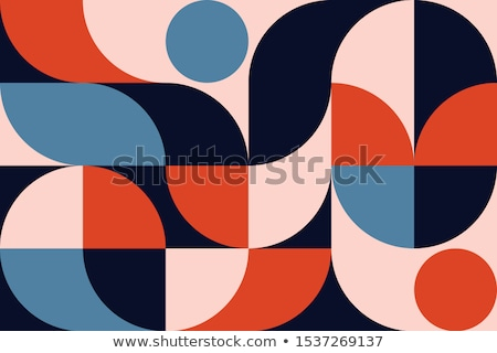 Padrão geométrico formas colorido mosaico retro Foto stock © balabolka