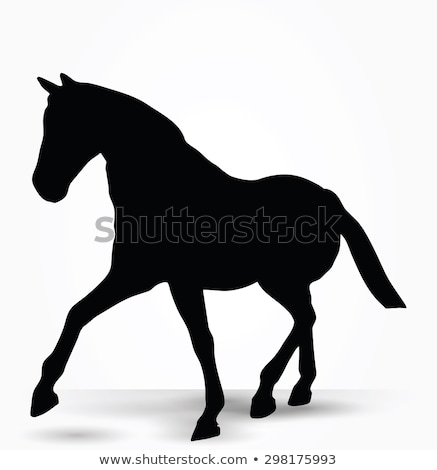 horse silhouette in parade walk pose Stock photo © Istanbul2009