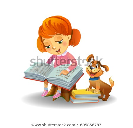 Mooie schoolmeisje boek meisje baby school Stockfoto © carodi