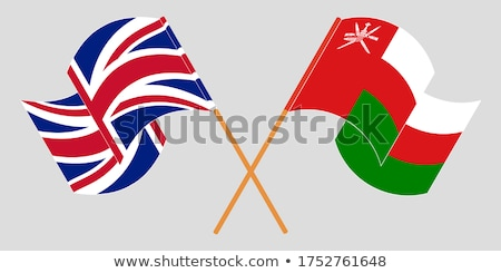 United Kingdom and Oman Flags Stock photo © Istanbul2009