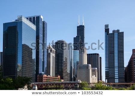 Trem centro da cidade Chicago metro inverno Foto stock © cboswell