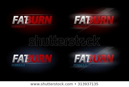 Vektor kövér égés szöveg diétázás sport Stock fotó © Elisanth