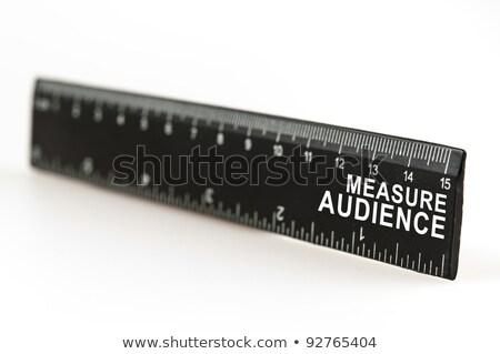Measure audience on ruler Stock photo © fuzzbones0