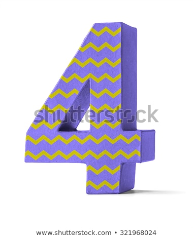 Colorful Paper Mache Number on a white background  - Number 47 Stock photo © Zerbor