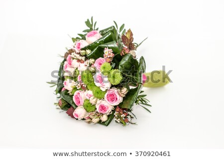 multicolored roses bouquet of flowers isolated on blue backgroun Stock photo © Victoria_Andreas