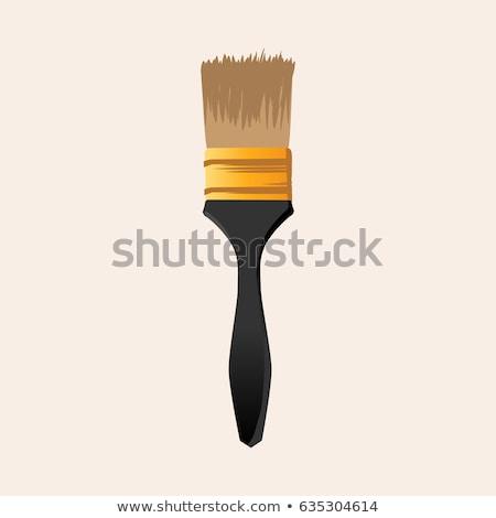 Paint brush amarelo vetor ícone botão projeto Foto stock © rizwanali3d