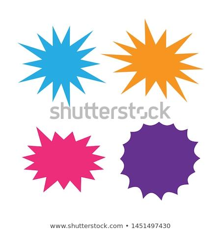 Flash wolk Blauw vector icon knop Stockfoto © rizwanali3d
