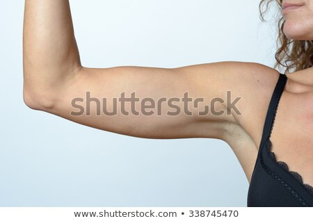 Női fekete csipke melltartó izolált fehér Stock fotó © RuslanOmega