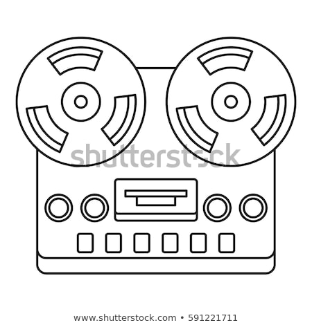 reel tape deck player recorder line icon stock photo © rastudio