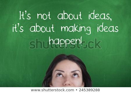 motivation quote   do it now on a chalkboard stock photo © tashatuvango
