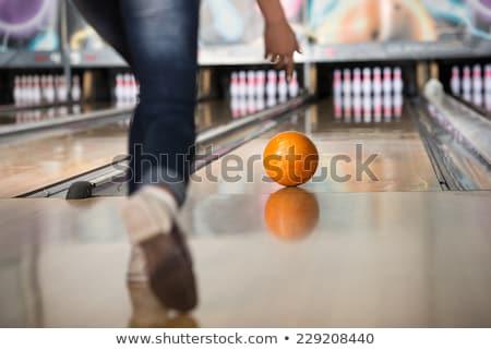 tíz · tő · bowling · kész · cél · játék - stock fotó © goosey