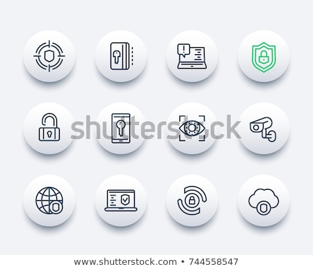 безопасности · услугами · икона · бизнеса · серый · кнопки - Сток-фото © WaD