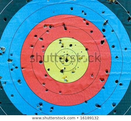 jugar · ganar · arco · flecha · objetivo · éxito - foto stock © hermione