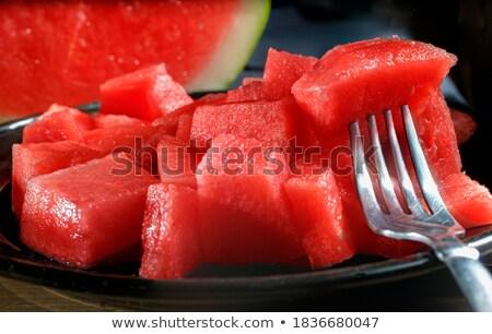 Watermeloen half rustiek tabel top Stockfoto © stevanovicigor