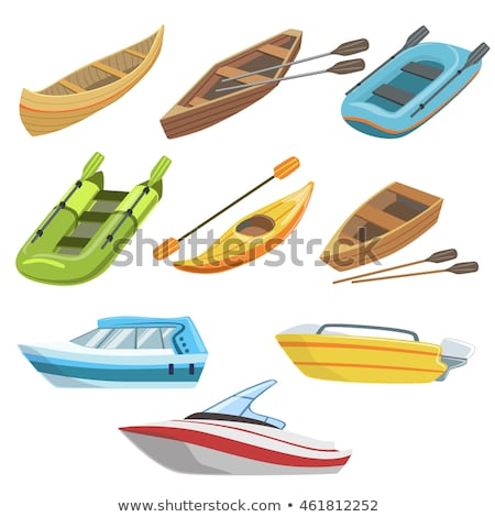 Canoes in different colors Stock photo © bluering