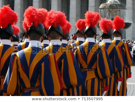 Straży Watykan St Peters Basilica 2016 miasta Zdjęcia stock © vwalakte