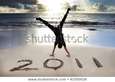 2011 on beach stock photo © lienkie