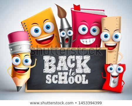Ahogy szöveg iskola tábla kréta iroda Stock fotó © fuzzbones0