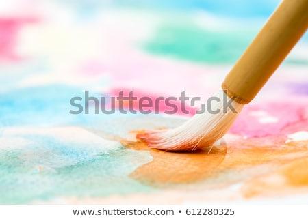 aquarela · azul · textura · pintar · fundo · cor - foto stock © devon