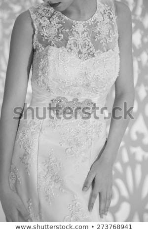 Beautiful bride wedding portrait, vogue style photo. Fashion bru Stock photo © Victoria_Andreas