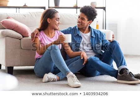 portrait of a couple falling in love Stock photo © Giulio_Fornasar