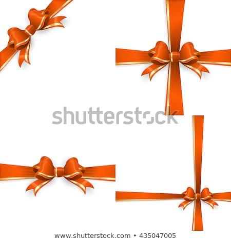 Stock fotó: Narancs · arany · íj · sablonok · eps · 10