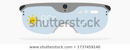 Futurystyczny okulary wektora ludzi głowie sylwetka Zdjęcia stock © kovacevic