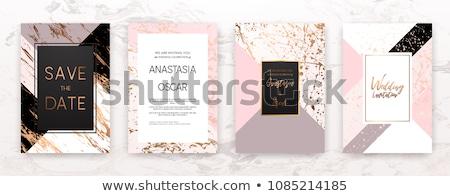 cartão · de · visita · rosa · vetor · projeto · ilustração · negócio - foto stock © SArts
