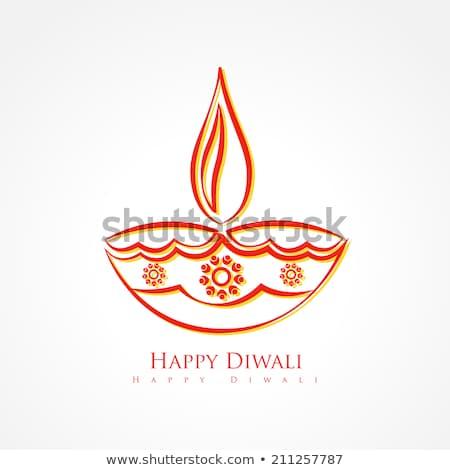 Artistic Diwali Diya With Stars Stockfoto © PinnacleAnimates