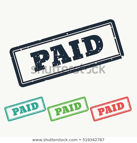 支払われた セット 異なる 色 スタンプ ストックフォト © SArts