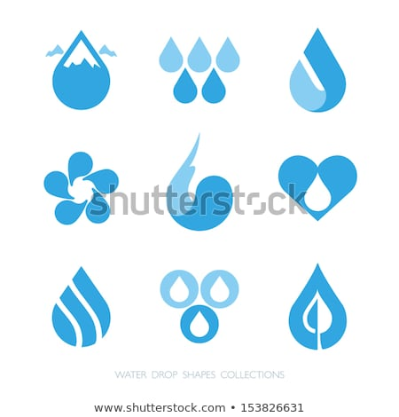 leaf and colorful water drop icon abstract symbol stock photo © tefi