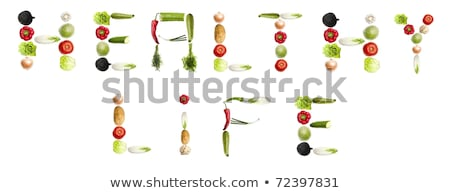 Healthy living concept symbol collection Stock photo © Tefi