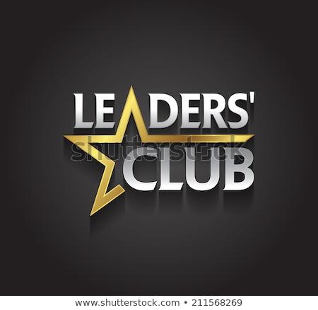 Dourado estrela logotipo design de logotipo 10 construção Foto stock © sdCrea