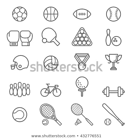 Stock photo: Boxing icons flat vector silhouettes icons