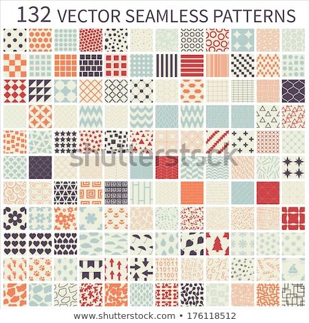 Szett végtelen minta hópelyhek végtelen végtelenített minták textúra Stock fotó © robuart