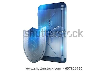 Veilig mobieltje hacker aanval zoals 3D Stockfoto © alphaspirit