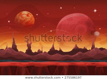 Fantasy Sci Fi Martian Background For Ui Game Stock photo © benchart