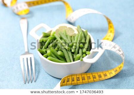 Zöldbab szalag étel vacsora ebéd életstílus Stock fotó © M-studio