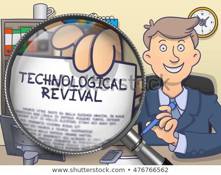 Technological Revival through Magnifying Glass. Doodle Style. Stock photo © tashatuvango